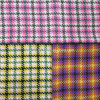 Twill and Check Wool Fabric Overcoat
