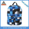 Fashion Checks Polyester Backpack Student School Bag