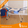 Portable Palstic Coated Balcony Metal Clothes Drying Rack (JP-CR0504W)