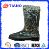 Leopard Printed PVC Rain Boots for Lady (TNK70017)