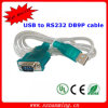 USB Male to RS232 Male Serial Cable Blue 80cm