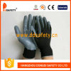 Ddsafety 2017 Black Nylon Coated with Nitrile Glove