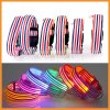Stripe Design Nylon Flashing Light up LED Dog Collar