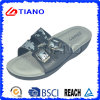 Comfortable Footbed Lady Beach Slipper with Upper Printing (TNK20133)
