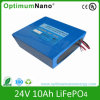 24V 10ah LiFePO4 Battery Pack for E-Bike