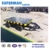 3t Utility Tractor Use Flatbed Industrial Cargo Drawbar Full Trailer