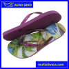 Summer Beach Printing PE Sandal with Jelly Strap for Woman