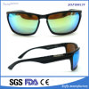 Men′s Protection Mirrored Fashion Polarized Sunglasses with Metal Details