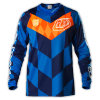 Blue OEM Made Polyester Sublimation Motorcycling Jersey (MAT31)