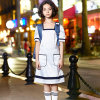 OEM Western Style Short Sleeve School Girl Dress Uniform