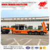 3 Axles Low Bed Semi Trailer with Triangle 8.25r20 Tires