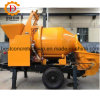 Elaborate Design Trailer Hydraulic Concrete Pump with Drum