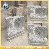 Unique Shape Upright Headstone in Grey Granite