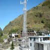 Triangular Microwave Steel Galvanized Self Supporting Telecom Tower