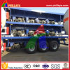 3 Axle 40FT Vehicle High Bed Container Flatbed Semi Trailer