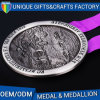 Antique Bronze Plated Metal Alloy Souvenir Medal for Wholesale