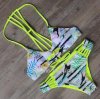 Lady Summer Sandbeach Bikini Leave Printing Swimsuits
