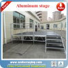 Portable Aluminum Dance Stage Plywood Stage with Stairsfor Outdoor Events