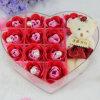 Custom High Quality Transparent Heart-Shaped Acrylic Rose Box