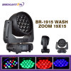 19*15W Mini RGBW Moving Head Stage Wash with Zoom