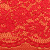 Fancy 3D Fabric Textile Materials White Elastic Trustwin Polyester Warp Knitted Lace Fabric