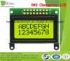 8X2 Character LCD Display, Mpu 8bit, Y/G Backlight, Stn Type, COB LCD Screen