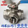 Manual Ss Floating Thread L Port Three Way Ball Valve