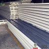 Light Steel Color Corrugated PU Sandwich Panel