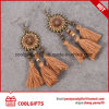 Wholesale Hot Selling Party Round Coffee Tassels Earrings