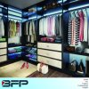 Bedroom Furniture Walk in Wardrobe Closet with LED Light