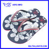 Fashion Girls Slipper Sandal with Flower Printing
