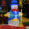 Wholesale Waterproof LED 3D Christmas Acrylic Plastic Motif Light Metal Snowman for Outdoor