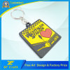 Cheap Customized Plastic Soft Rubber Key Ring with Any Logo Design (XF-KC-P37)