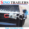 Sino 6X4 Medium Duty Single Powder Coating Box Trailer