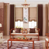 Customized Size Cheap Damask University Modern Curtains with Embroidered