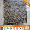 Emperador Marble, Convex Glossy and Frosted Glass Mosaic (M815057)