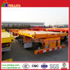 40ft Frame Deck Skeleton Container Semi Truck Trailer with Locks