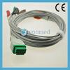 Ge Solar 9500 3 Lead/ 5 Lead ECG Cable, Snap, 11pins