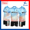 Healong China Manufacture Sportsweat Sublimation Junior Men′s Badminton Shirt