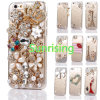 Blicrystal Rhinestone Transparent Phone Case Cover for iPhone