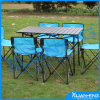 Outdoor Adjustable Aluminum Dining Portable Folding Table and Chair Set