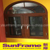 Aluminium Casement Window in Wood Texture