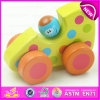 Latest Baby Best Selling Wood Mini Car Toy, High Quality Wooden Car Hand Drive Baby Wooden Toys for 1year Old Babies W04A178b