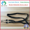 Polyester Blank Black Lanyard with Double Swivel Hook