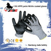 Safety Glove, 13G Hppe Safety Nitrile Smooth Coated Cut Resistant Glove Level Grade 3
