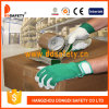 Ddsafety 2017 Pig Grain Leather Green Elastic Cuff Pig Leather Gloves