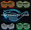 LED EL Wires Slotted Shades Sunglasses