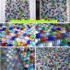 Flat Round Glass Bead Mosaic