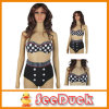 Cutest Retro Print Swimwear High Waist Bikini Set (KS6107)