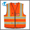 High Visibility Vest with Double Horizontal Reflective Strips